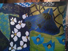 almofadas azul e verde