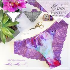 IMPRESO el patrón de costura lencería Esme por EvielaLuveDIY