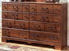 Ashley Timberline eight drawer dresser - AppliancesConnection