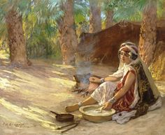 Algeria -Frederick Arthur Bridgman (American, 1847–1928) Preparing the meal