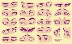 Eyes 3 by Rejuch | drawing facial shapes, eye types