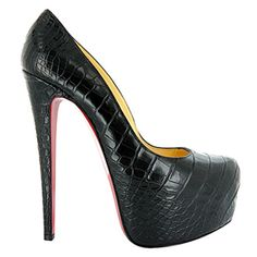 Well-designed Christian Louboutin Daffodil 160 Croco Platform Pumps Black | Christian Louboutin Lion Paw Pumps Price