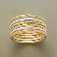 MOONLIGHT TO SUNSHINE RINGS, SET OF 6