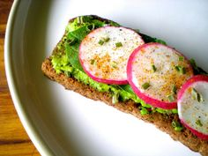Avocado and Radish Black Bread Tartines - a quick, light, spring lunch. SimplePairings.com