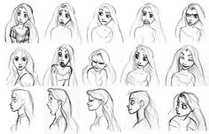 "Academy of Art Character and Creature Design Notes: Disney's ""Tangled"" Character Design Development."
