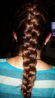 French braid by Tia Elizabeth Girly Things, Girly Stuff, Plait, Beautiful Long Hair, French Braid, Braided Hairstyles, Braids, Long Hair Styles, Makeup