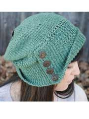 Robin Hood Knit Pattern This cute hat is knit from crown to brim, with a unique stockinette top and garter stitch bottom. Knit with 175 yards of worsted weight yarn and US sizes 7 and 8 circular needles.