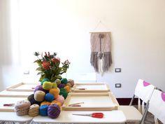 A pompom's weaving class in Florence, Italy. sarapierazzuoli@me.com for checkin