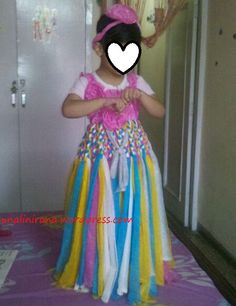 No Sew Braided Rainbow Tutu Dress