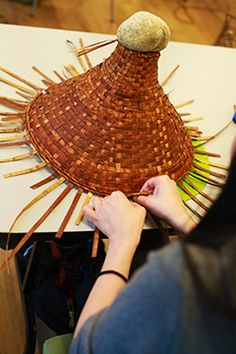 The scent of freshly soaked cedar strips filled the Kéwusm-áyakn Student Centre last week at a Cedar Hat Weaving workshop hosted by Capilano'sFirst Nation