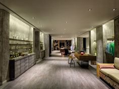 Reception and retail areas at Six Senses Spa Douro Valley, Portugal  http://www.sixsenses.com/resorts/douro-valley/spa