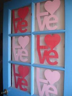 Door decor for Valentines