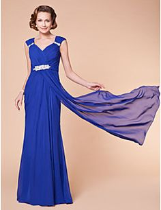 Sheath/Column V-neck Floor-length Chiffon Mother Of The Bride Dress. Get superb discounts up to 70% Off at Light in the box using Mother's Day Promo Codes.