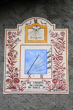 Chazelet par Michel GERMAIN sur L'Internaute Michel Germain, Sundial, Solar, Clock, France, Watches, Art, Compass, Pendulum Clock