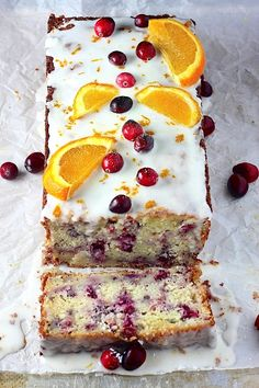 "do-not-touch-my-food: ""Cranberry-Orange Ricotta Pound Cake "" No Bake Desserts, Just Desserts, Delicious Desserts, Dessert Recipes, Ricotta Pound Cake, Bolo Grande, Cranberry Recipes, Pound Cake Recipes, Pound Cakes"