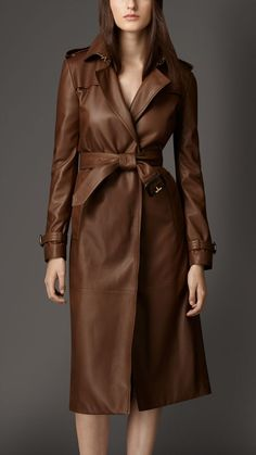 Manufacturer & Exporters of Ladies Leather Trench Coat in Pratapgarh India. Zairah Import Export Private Limited offering fine quality Ladies Leather Trench Coat at Affordable Price. Long Leather Coat, Leather Trench Coat, Real Leather, Lambskin Leather, Leather Jackets, Trent Coat, Casual Coats For Women, Brown Trench Coat, Living In London