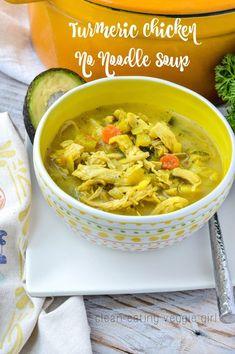 Turmeric Chicken No Noodle Soup {AIP, Paleo, Gluten-Free, Grain-Free, Nightshade-Free, Dairy-Free, Soy-Free, Nut-Free, Egg-Free, Whole 30}| cleaneatingveggiegirl.com
