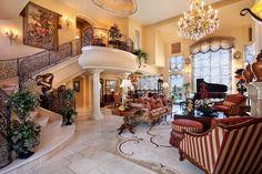 Formal living room and dining room designed by von Hemert Interiors. #AnitaBorrelli
