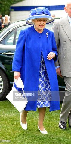 Queen Elizabeth II attends the Al Habtoor Royal Windsor Cup Final at Guards Polo…