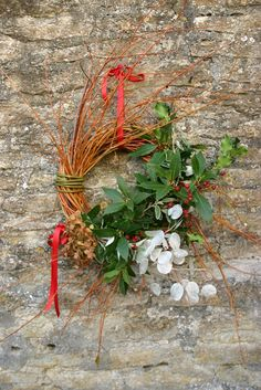 for seasonal, hedgerow bounty order your fresh-cut Somerset willow wreath today from http://commonfarmflowers.com/category.php?cat_id=3 #Christmas