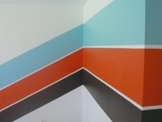 brown orange and blue nursery