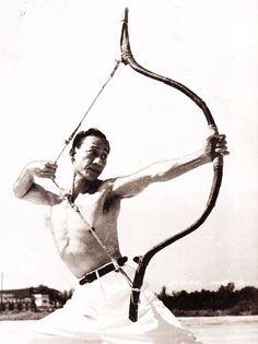 Photographs of republican period archery   Fe Doro - Manchu archery