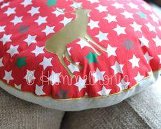 Tutorial Weihnachtskissen - mit Paspel und Hotelverschluss