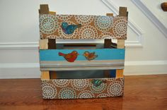 Mom Attempts... Decorating Clementine crates with cute paper birds. Printables.