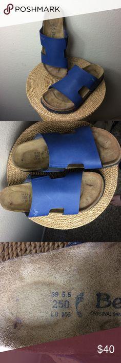 New BIRKENSTOCKS Never worn brown leather Birkenstocks Birkenstock Shoes Sandals