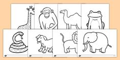 Dear Zoo Colouring Sheets                                                                                                                                                                                 More