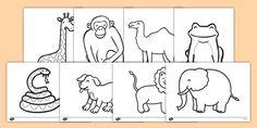 Dear Zoo Colouring Sheets                                                                                                                                                                                 More                                                                                                                                                                                 More