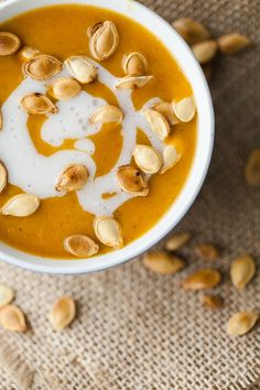 Made from a fresh pumpkin, this pumpkin soup has minimal ingredients but is flavorful with use of a good curry powder. Add a salad for a complete meal.