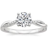 I love this sweet and simple twisted band.  :)  Engagement Ring Settings | Brilliant Earth Diamond Rings