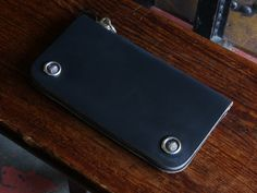 MOTOR CHROMEXCEL LEATHER LONG WALLET NAVY