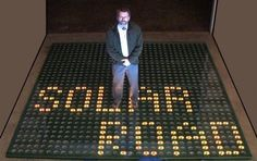 Solar Roadways CEO Scott Brusaw.  Intriguing. The roadways collect and store solar energy!