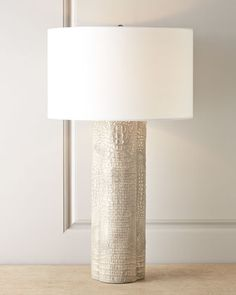 Ramses Crocodile-Print Lamp by Regina-Andrew Design at Horchow.