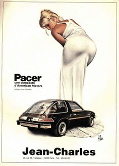 "advertisingpics: "" A 1975 French magazine advertisement for the AMC Pacer. Source: https://openpics.aerobatic.io/ """