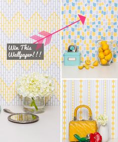 Freebie Friday: Win Free Designer Wallpaper by Kimberly Lewis Home (http://blog.hgtv.com/design/2014/01/17/freebie-friday-win-free-designer-wallpaper/?soc=pinterest)