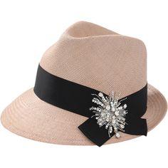 ffa8514e49c2 Brunello Cucinelli Straw Fedora ( 1,145) ❤ liked on Polyvore featuring  accessories, hats, rosebud hats, straw hat, fedora hat, brunello cucinelli  and straw ...