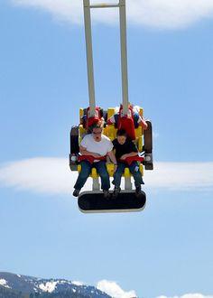 Awesome scary air swing ride in Logan, Utah