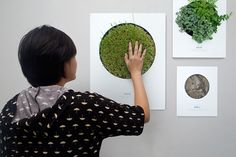 TAKE A GREEN BREAK: Poster on Behance; Interactive Posters using the sense of sight, touch and smell.