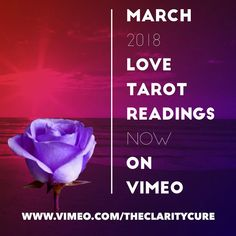 """Extended """"March LOVE 2018 Intuitive Psychic Readings avail now on Vimeo! 💜❤️🎬🎥⭐️ @vimeo Hold the vision, trust the process (follow the link…"""
