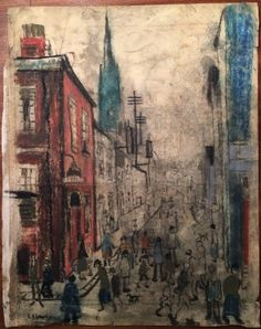 LS Lowry Pastel Line Drawing Hand Signed Dated Vintage. http://eaglefineart.co.uk/product/ls-lowry-pastel-line-drawing-hand-signed-dated-vintage/ #Lowry #eaglefineart