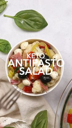 Low Carb Keto, Low Carb Recipes, Diet Recipes, Cooking Recipes, Healthy Recipes, Antipasto Recipes, Antipasto Salad, Low Carb Side Dishes, Ketogenic Diet