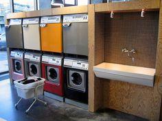 Tietgenskollegiet student housing laundry room in Copenhagen, Denmark