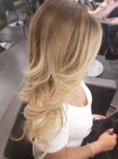 W's Salon - Blonde ombre balayage color correction by Jayden for Rosie o. - San Jose, CA, United States
