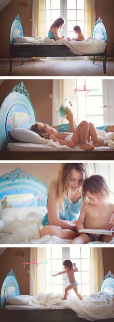 Absolutely LOVE the painted bedframe. HAVE to do this when Helena moves up to her big girl bed.