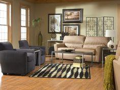 Zane with Sydney living room set (via @CORT Furniture)