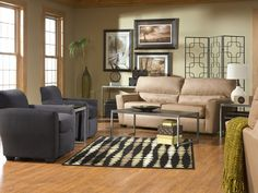 Zane with Sydney living room set (via @CORT Furniture)