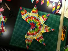 Made by a Man: Sew What: Woven Star, Lone Star. Tutorial to make this amazing star, is easier than you think!